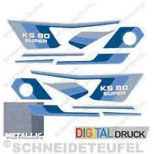ZÜNDAPP KS 80 SUPER AUFKLEBER SET BLAU NEU - 30490