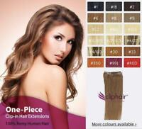 Silky Supreme Remy 100% Human Hair Extensions  One-Piece Clip in Extensions