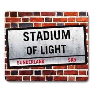STADIUM OF LIGHT SUNDERLAND London Street Sign MOUSEMAT football fan mouse mat