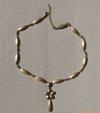 MONET GOLDEN TONE STAINLESS STEEL NECKLACE
