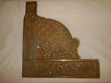 Vintage Heavy Brass Cash Register Side Panel