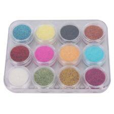 12 Color Nail Art Shiny Sparkle Glitter Powder Dust Tips Manicure DIY Girls T6d2