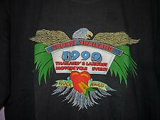 NEW Vintage 90s Phuket Thailand 1999 Bike Week T Shirt Black XL