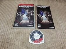 TRANSFORMERS THE GAME PSP GAME COMPLETE Free Shipping!!