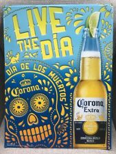 New! Corona Extra, Day Of The Dead Sign Bar Tin Tacker