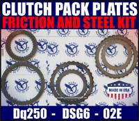 02E DQ250 Gearbox clutch parts.Friction Steel plate kit. Volkswagen Audi Skoda