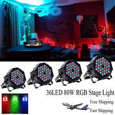 4PCS 36LED 80W RGB Par Stage Light  Church Wedding DJ Show Party Disco Lighting
