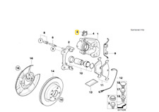 Original BMW E81 E87 E88 E82 E90 E91 AIR REAR 34116758107 NEW