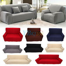 1/2/3/4 Seater Sofa Cover Stretch Couch Covers Case Protector Washable Solid TP
