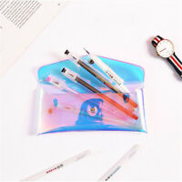 Transparent Laser Cosmetic Makeup Women Pencil Case Bag Stationery Pouch LD