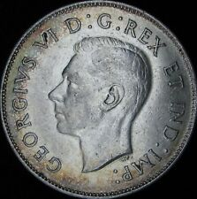 1944 XF+ (AU-)  Canada Silver 50 Cents (Fifty, Half) - KM# 36 - JG