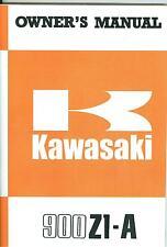 1974 KAWASAKI 900 Z1-A OWNER'S MANUAL