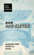 BAC ONE-ELEVEN - INTRODUCTORY NOTES FOR PILOTS - 1966