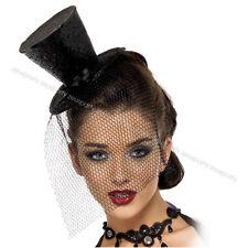 CARNEVALE Cappellino mini Cappello con Veletta e Cerchietto Burlesque 115  32927 d732ec425a35