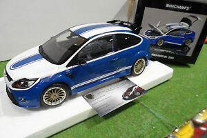 FORD FOCUS RS 2010 bleu Le Mans au 1/18 d MINICHAMPS 100080072 voiture miniature