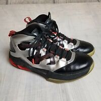 Nike Jordan Melo M9 Basketball Athletic Shoes Size 8 Men's Black Silver Red