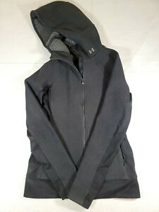 Women's Under Armour size S Black Hooded zip ColdGear Infrared Jacket Running