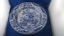 ancien grand plat creux creil montereau bleu chinois indochine faience XIXe
