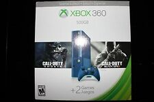 BRAND NEW XBOX 360 500GB Holiday Value bundle (BLUE) w/ two Call of Duty games
