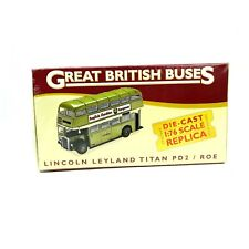 Atlas Editions Great British Buses Lincoln Leyland Titan PD2 / ROE 1:76 Sealed