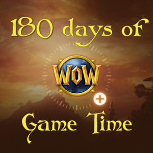 180 day Game Time World of Warcraft WOW US/NA BFA Classic Servers card months