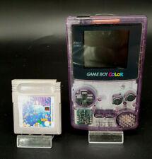 Nintendo Game Boy Color Crystal Pink Tetris CGB-001 PAL Spiele Handheld System