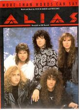 "ALIAS ""MORE THAN WORDS CAN SAY"" SHEET MUSIC-PIANO/VOCAL/GUITAR/CHORDS-RARE-NEW!!"
