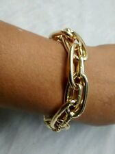 Pretty Henri Bendel gold tone double links bracelet