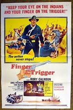 """Rory Calhoun in """"FINGER ON THE TRIGGER"""" is the only way to stay ALIVE - poster"""