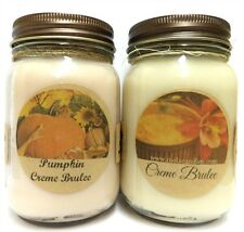 Combo - Creme Brulee & Pumpkin Creme 16oz Jar WHOLESALE SCENTED Soy Candles