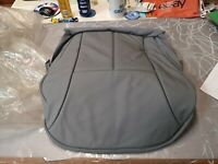 MERCEDES E CLASS W210 FRONT SEAT BASE COVER GREY LEATHER HEATED NEW 2109107046