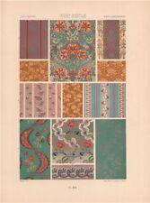 RACINET ORNEMENT POLYCHROME 95 18th century Rococo arts patterns motifs c1885