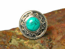 TURQUOISE   Sterling  Silver  925  Gemstone  RING  -  Size  N  -  Gift  Boxed!