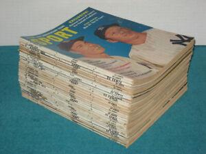 (30) Vtg 1950's-1960's Sport Magazine LOT #4 Baseball Football Mickey Mantle ++