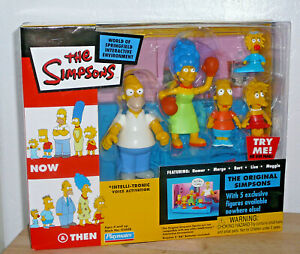 The Simpsons 5 Original Figures 2003 Now & And Then Playmates Interactive 43608