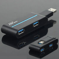 High Speed 5V 4 Ports USB 3.0/2.0 External Hub Adapter black for PC Laptop