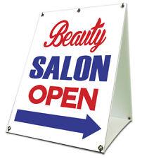 Beauty Salon Open Sidewalk A Frame 18x24 Outdoor Store Retail Sign
