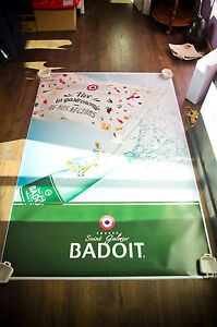 BADOIT Style A 4x6 ft Bus Shelter Original Food Advertising Poster 2016