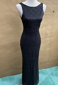 Lucy Wang Ladies Black Sequined Dress. Prom Party Wedding Size Medium/ 10
