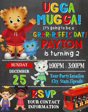 Daniel Tiger Neighborhood Birthday Party Invitations Personalized Custom