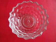 """Vintage 5.25"""" Clear Glass Candy Dish - with Diamond like pattern"""