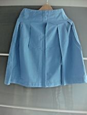Marks And Spencer Blue Cotton Skirt - Size 8 M&S