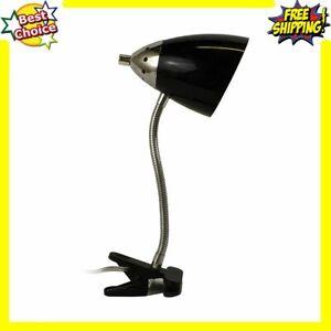 Table Goose Neck Book Lamp Clamp Clip Desk Bright Flexible Adjustable Work Light