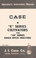 CASE E Series Cultivator VA Tractor Operators Manual