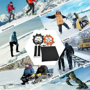 23 Teeth Claws Micro Spikes Footwear Ice Traction System Non-slip Crampons US