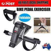 Pedal Exerciser Mini Gym Bike Fitness Cycle Leg w/ LCD Display Portable af