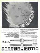 Publicité Advertising 018  1962  montre Sahida  Eterna-Matic