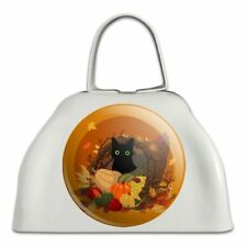 Thanksgiving Black Cat Cornucopia Cowbell Cow Bell Instrument