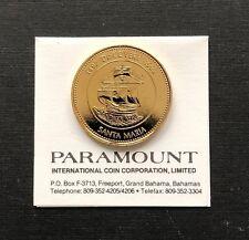 Bahamas Quincentennail First Landfall Santa Maria 1492-1992 Commemorative Coin