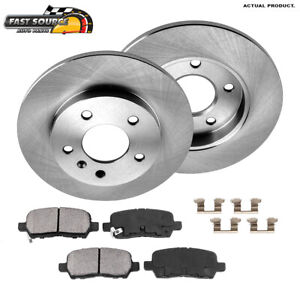 For Buick Lacrosse Grand Prix Chevy Impala Rear Brake Rotors And Ceramic Pads